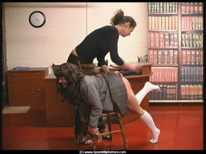 Rosaleen Young spanked at school